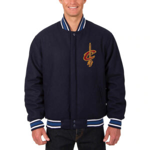 Navy Cleveland Cavaliers Reversible Jacket