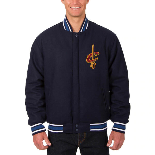 Navy Cleveland Cavaliers Reversible Jacket