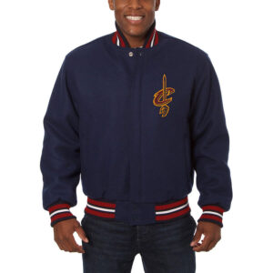 Navy Cleveland Cavaliers Wool Jacket