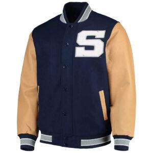 Navy Penn State Nittany Lions Varsity Jacket