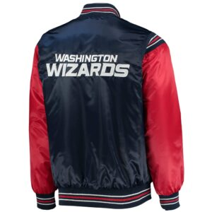 Navy and Red Washington Wizards Satin Jacket