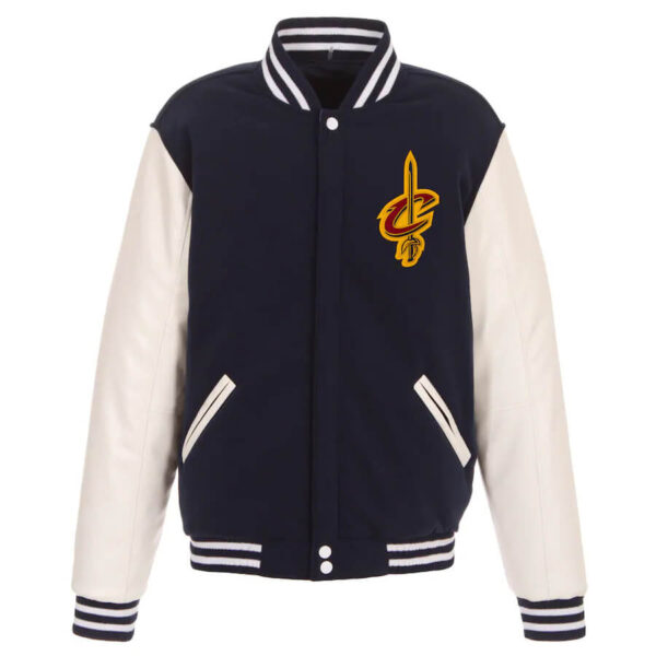 Navy and White Cleveland Cavaliers Reversible Jacket