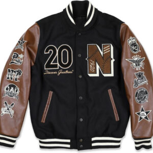 Negro League Baseball S9 Black Varsity Jacket