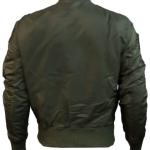 Olive Top Gun Flight Bomber Jacket