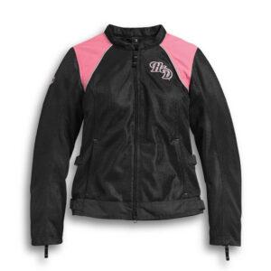 Pink Mesh Harley Davidson Riding Jacket