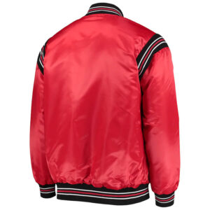 Red Chicago Bulls Enforcer Satin Full Snap Jacket