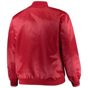 Red Chicago Bulls Hardwood Classics Satin Jacket