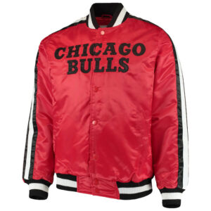 Red Chicago Bulls The Offensive Satin Jacket