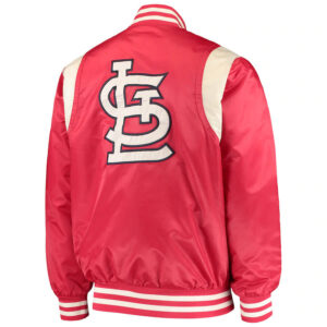 Red and Cream St. Louis Cardinals Satin Jacket