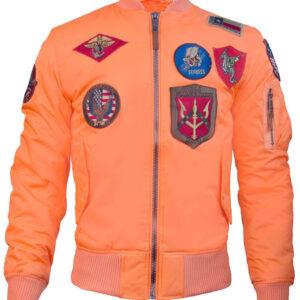 Salmon Top Gun Flight Bomber Jacket