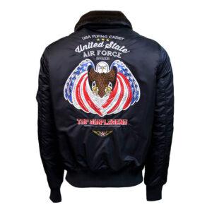 Top Gun Black Eagle II Bomber Jacket