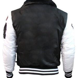 Top Gun Black and White Bomber Jacket