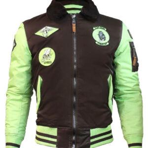 Top Gun Brown and Green Bomber Jacket