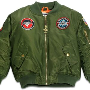 Top Gun Green Up and Away Flight Bomber Jacket