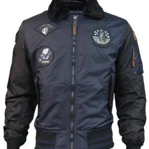 Top Gun Navy and Black Bomber Jacket