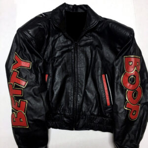 Vintage Black Betty Boop Leather Jacket