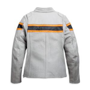 White Harley Davidson Motorcycle Leather Jacket