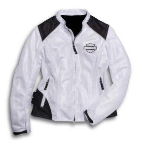 White Harley Davidson Riding Windbreaker Jacket