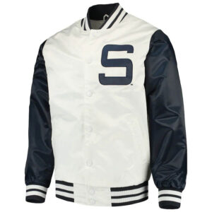 White Penn State Nittany Lions Satin Jacket