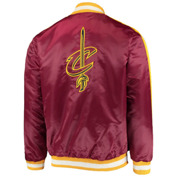 Wine Cleveland Cavaliers The Offensive Satin Jacket