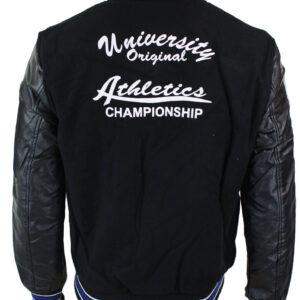 Athletics Black Blue Varsity Baseball Letterman Jacket