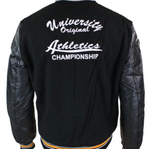 Athletics Black Yellow Varsity Baseball Jacket