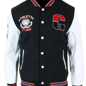 Athletics Black and White Varsity Baseball Jacket