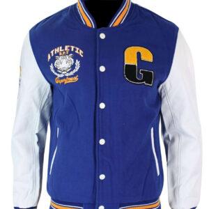 Athletics Blue White Varsity Baseball Letterman Jacket