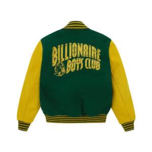 Billionaire Boys Club Green Yellow Varsity Jacket
