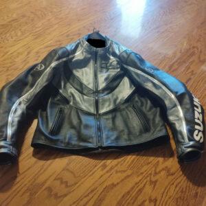 Black Suzuki Hayabusa Motorcycle Jacket