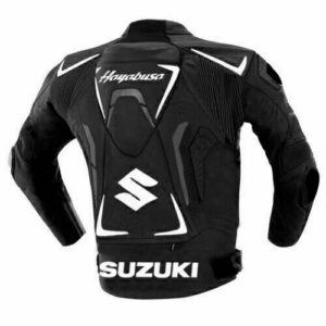 Black Suzuki Race Track Hayabusa Motorcycle Jacket