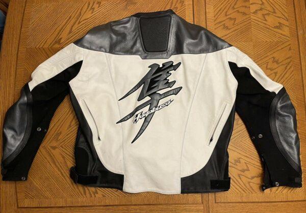 Black and White Suzuki Hayabusa Motorcycle Jacket