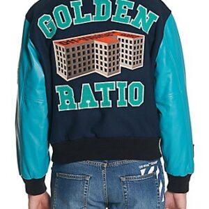 Blue Golden Ratio Varsity Baseball Jacket