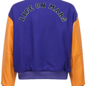 Blue Life On Mars RS Patch Varsity Jacket