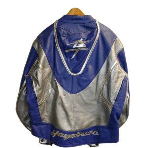 Blue Suzuki Hayabusa Motorcycle Leather Jacket