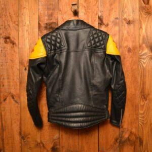 British Suzuki Riders Cafe Racer Biker Leather Jacket