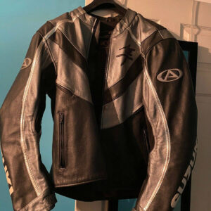 Brown Suzuki Hayabusa Motorcycle Racing Jacket