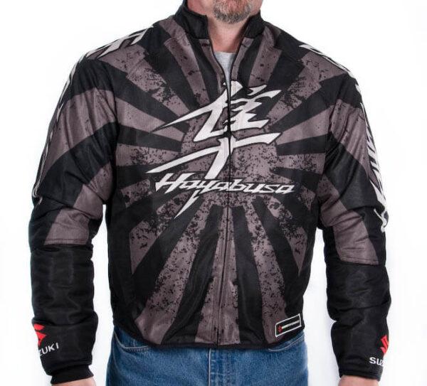 Brown Suzuki Hayabusa Motorcycle Textile Jacket