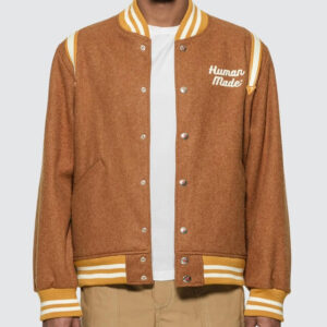 Human Made Brown Varsity Reversible Jacket
