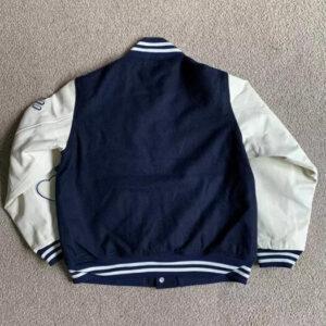 Human Made Dry Alls Wool Navy Varsity Jacket