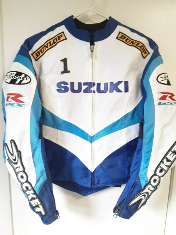 Joe Rocket Suzuki GSXR Blue Motorcycle Riding Jacket