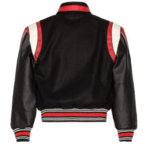 Rhude Black Red Varsity Baseball Jacket