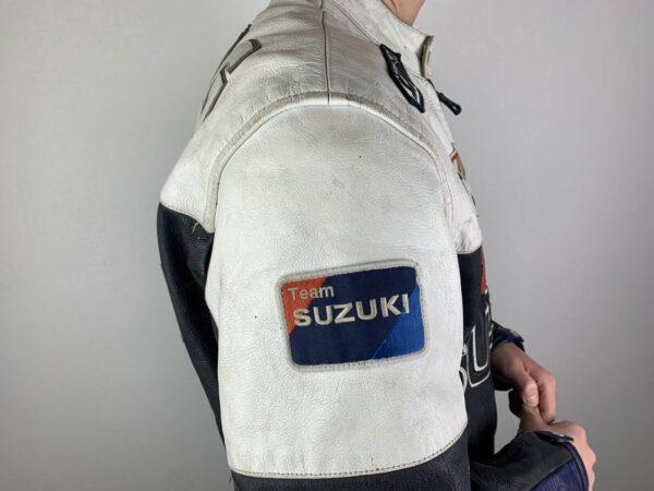 Suzuki Black Blue White Motorcycle Racing Jacket