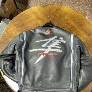 Suzuki Black Hayabusa Motorcycle Leather Jacket