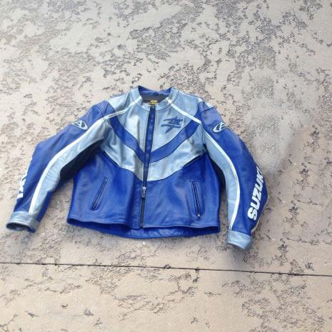 Suzuki Blue Hayabusa Motorcycle Leather Jacket Suzuki Blue Hayabusa Motorcycle Leather Jacket