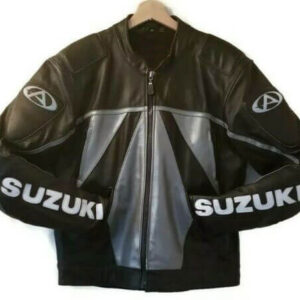 Suzuki GSXR Black Elite Motorcycle Racing Jacket