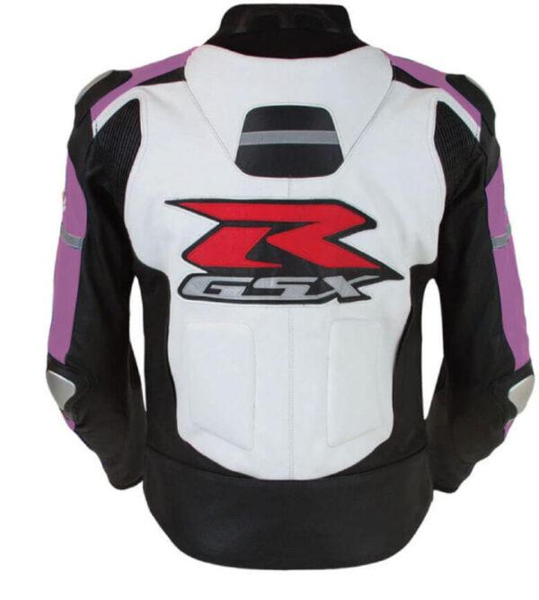 Suzuki GSXR Purple and White Motorcycle Jacket