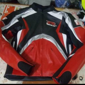Suzuki GSXR Red Black Motorcycle Racing Jacket