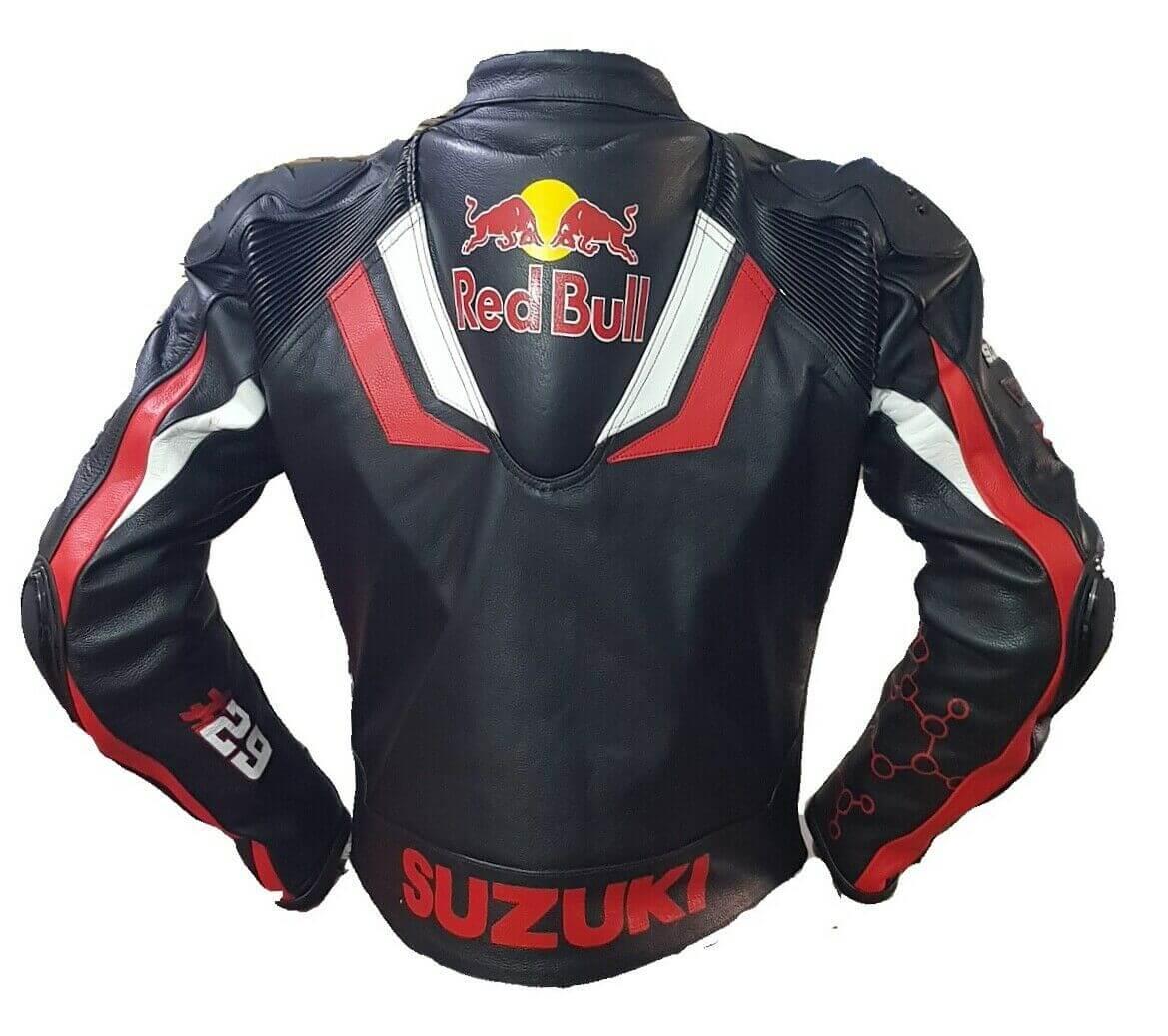 Suzuki GSXR Red Bull Motorcycle Leather Jacket
