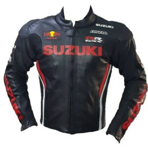 Suzuki GSXR Red Bull Motorcycle Leather Jacket